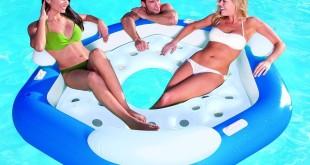 Aufblasbare Schwimminsel