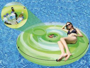 Infactory schwimminsel mit person