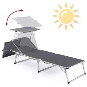 Sonnenliege mit Dach 11