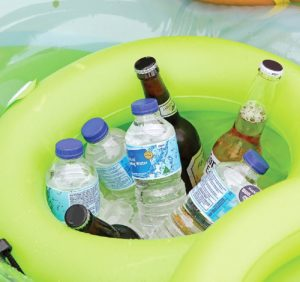 schwimminsel aufblasbar Infactory mit kühlfach